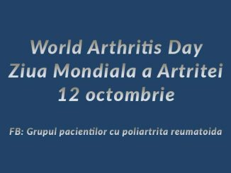 World Arthritis Day - Ziua Mondiala a Artritei